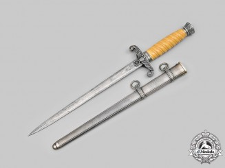 Germany, Heer. A Rare & Exquisite Officer's Dagger with Damascus Blade, by Lauterjung & Co.