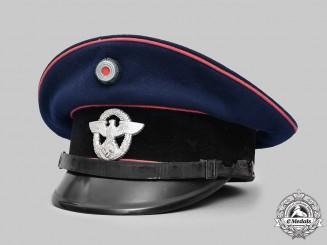 Germany, Feuerschutzpolizei. An EM/NCO's Visor Cap, by Georg Rieder