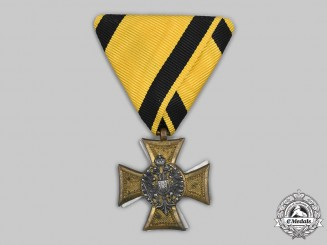 Austria, Empire. A Military Long Service Decoration, III Class for 25 Years' Service, Mother of Pearl, c, 1915