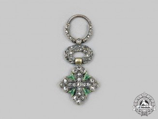 Italy, Kingdom. An Order of St. Maurice and St. Lazarus, Miniature Cross in Diamonds, c. 1880