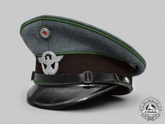 Germany, Schutzpolizei. An EM/NCO's Visor Cap, by Carl Isken