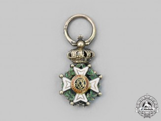 Belgium, Kingdom. An Order of Leopold, Grand Cross Miniature in Gold, Diamonds and Emeralds, c. 1860