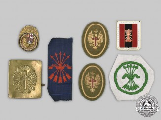 Spain, Francoist Era. A Lot of Eight Insignia