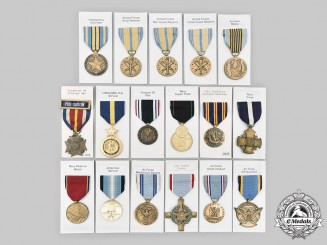 United States. A Lot of Seventeen Medals