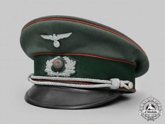 Germany, Heer. A Flak/Artillery Officer's Visor Cap, by Peter Küpper