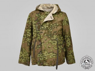 "Germany, SS. A Waffen-SS Oak Leaf ""A"" Pattern Camouflage Reversible Winter Parka"