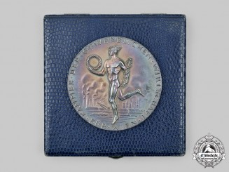 Austria, II Republic. A Merit Medal for Economic Distinction to Otto Kleber, with Case, by Edwin Grienauer