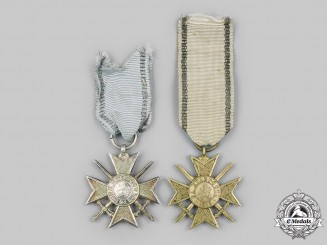 Bulgaria, Kingdom: Two Military Order for Bravery, Soldier's Crosses for Bravery, c.1916