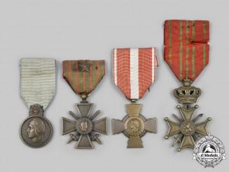 Belgium, Kingdom; France, III Republic. A Lot of Medals & Awards