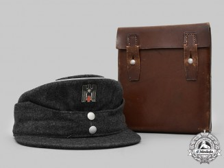 Germany, DRK. A Red Cross Officer's M43-Style Cap & Medical Pouch