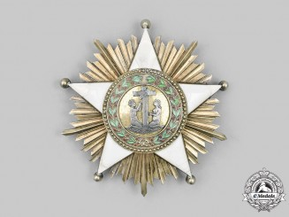 Liberia, Republic. An Order of African Redemption, I Class Grand Commander Star, by Arthus Bertrand, c.1935