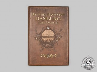 Germany, Imperial. A Large Leatherbound Photo Collection of Hamburg, by Photographer Wilhelm Dreesen, c.1900