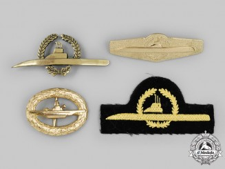 Germany, Federal Republic. A Lot of U-Boat Crew Badges and Insignia, 1957 and Bundesmarine Versions