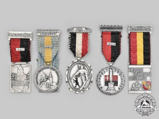 Switzerland, Swiss Confederation. A Lot of Five Shooting Medals, c. 1956 to 1975