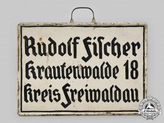 Germany, Third Reich. A Sudeten German Road Sign