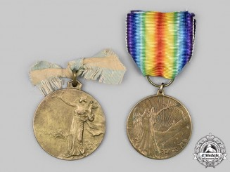 Canada, United Kingdom. Two First War Commemorative Medals