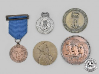Chile, France, South Africa. A Lot of Five Commemorative Medals