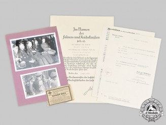 Germany, Luftwaffe. A Collection of Photos and Documents to Luftwaffe Squadron Leader Hauptmann Kahra (KIA)