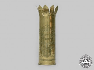 Hungary, Kingdom. An Eastern Front  Trench Art Brass Shell