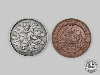 Canada, United Kingdom. Two Kennel Club/Canine Society Award Medals