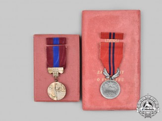 Czechoslovakia, Socialist Republic. Two Awards