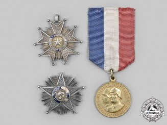 Chile, Republic. A Lot of Three Awards