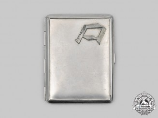 "Germany, SS. A SS-Standarte ""Deutschland"" Cigarette Case"