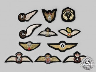 Canada, Australia, United Kingdom. A Lot of Eleven Badges & Wings