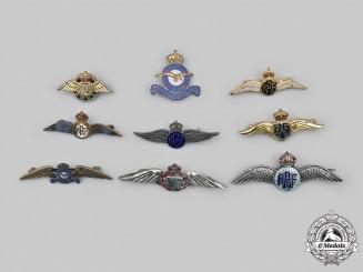 Canada, United Kingdom. A Lot of Nine Air Force Sweetheart Badges