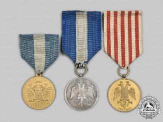 Albania, Kingdom. Three Shkoder Saverian College (Kolegia e She Francessk Saverit, Shkoder) Merit Medals