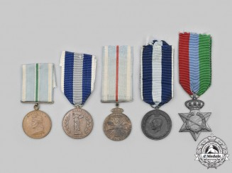 Greece, Kingdom. A Lot of Five Medals