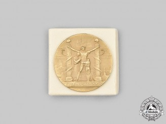 Czechoslovakia, First Republic. An Exiles Liberation Medal, with Case, by Medallic Art Co.