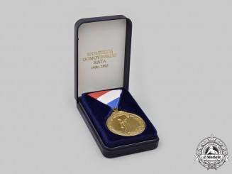 Croatia, Republic. A Medal of Remembrance for the Homeland War, Cased
