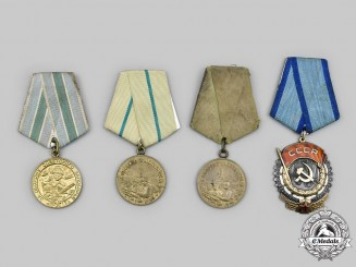 Russia, Soviet Union. A Lot of Four Awards & Decorations