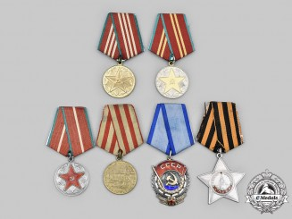 Russia, Soviet Union. A Lot of Six Awards & Decorations