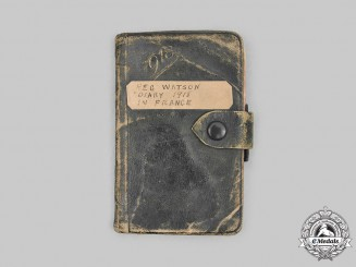 Canada. First War Diary Named to Private Reginald Alexander Watson, 71st Infantry Battalion, 8th Battalion Canadian Railway Troops