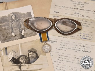 United Kingdom. An Extensive Album & Goggles to RFC Flyer & King's Cup Air Race Casualty, 2nd Lieut. Warwick