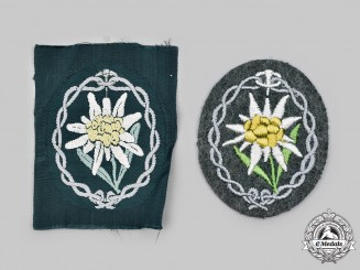 Germany, Heer. A Pair of Gebirgsjäger Sleeve Insignia