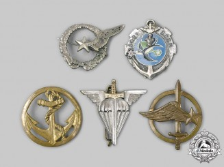 France, IV & V Republics. A Lot of Five Badges