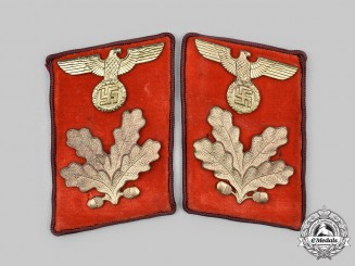 Germany, NSDAP. A Set of Gau-Level Befehlsleiter Collar Tabs