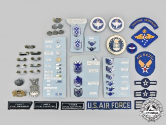 United States. A Lot of Fifty-Two United States Air Force, Civil Air Patrol and ROTC Items