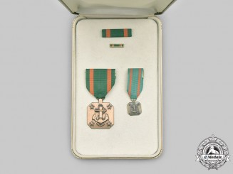 United States. A Navy and Marine Corps Achievement Medal, Cased