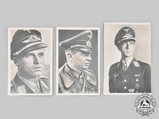 Germany, Wehrmacht. A Lot of Knight's Cross Winner Postcards