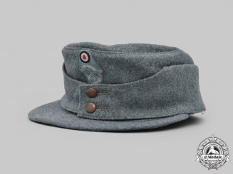 Germany, Ordnungspolizei. An EM/NCO's M43 Field Cap