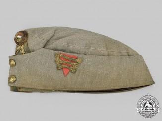 Hungary, Kingdom. A Rare Army Artillery Officer's Overseas Cap, c.1940