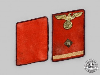 Germany, NSDAP. A Pair of NSDAP Political Leader Collar Tabs