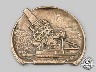 Czechoslovakia, I Republic. A Skoda 30.5 cm Howitzer Plate