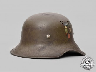 "Bulgaria, Kingdom. A Royal Army Air Defence and Chemical Protection Model 1938 ""Luftschutz"" Steel Helmet, c.1942"