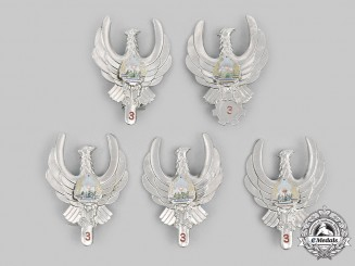 Romania, People's Republic. Five Romanian Air Force (RoAF) Badges
