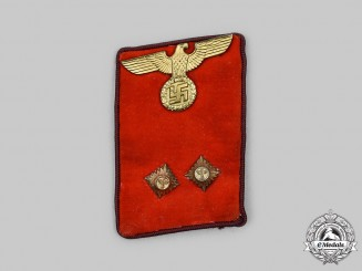 Germany, NSDAP. A Gau-Level Bereitschaftsleiter Collar Tab